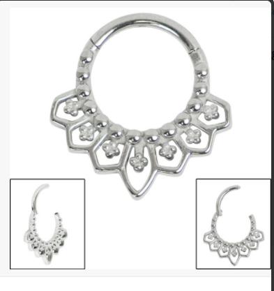 Mandala Clicker Ring