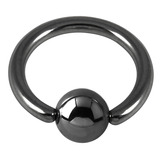 Black Ring With Ball