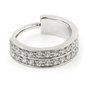 Double Jewelled Conch Ring