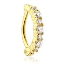 24k Gold Rook Ring With Gems