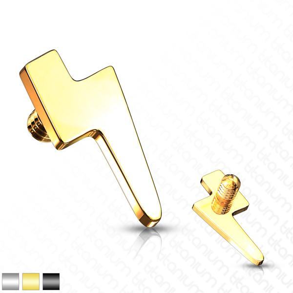 Gold Lightening Bolt Ear Stud