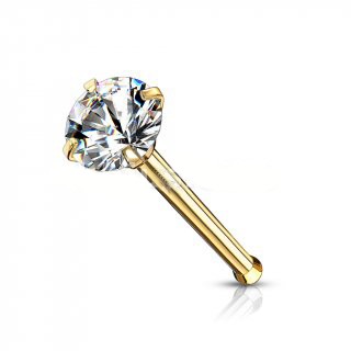 Gold Premium Range Claw Set Gem Nose Stud