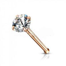 Rose Gold Premium Range Claw Set Gem Nose Stud