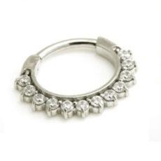 12 Gem Clicker Ring