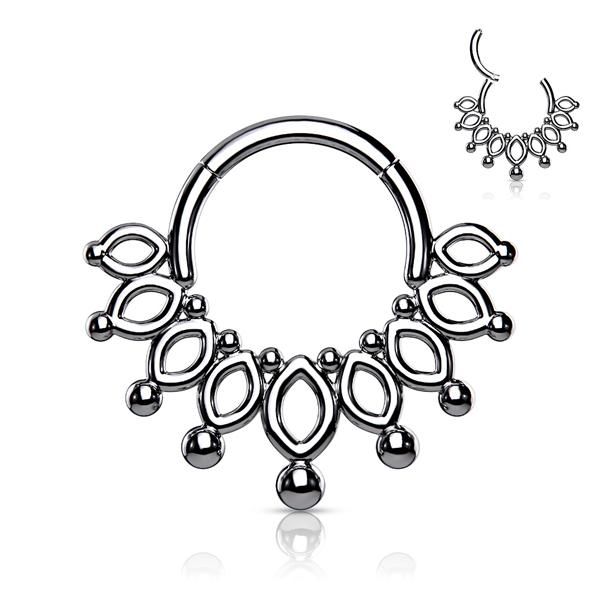 Filigree Crown Clicker Ring