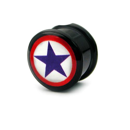 star acrylic plug