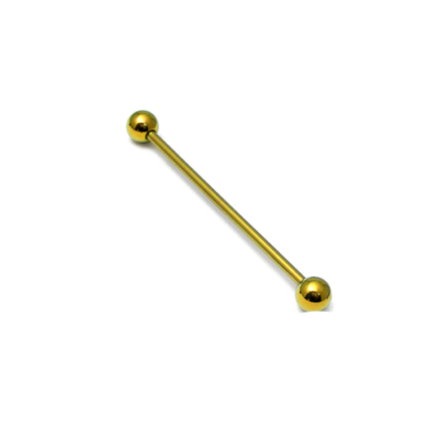 Gold coloured Titanium scaffold bar