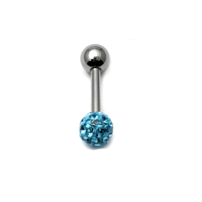 Light Blue Glitzy Tongue Bar