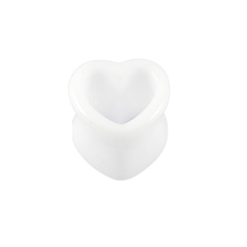 White Heart Shaped Plug