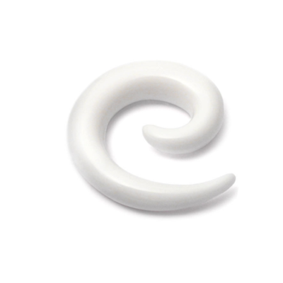 White Acrylic Spiral Stretchers