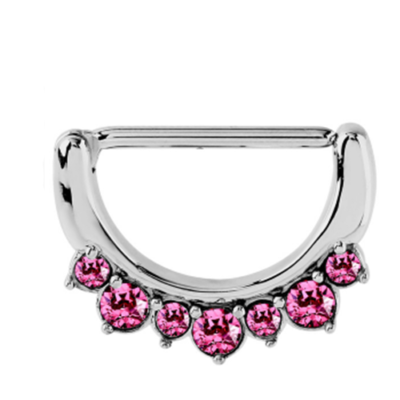 Pink Jewelled Nipple Clicker
