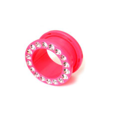 Pink Acrylic Tunnel With Clear Gems