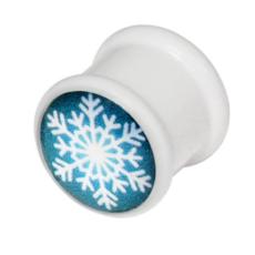snowflake acrylic plug