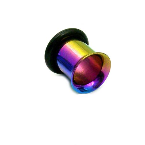 Rainbow Coloured Titanium Flared Eyelet