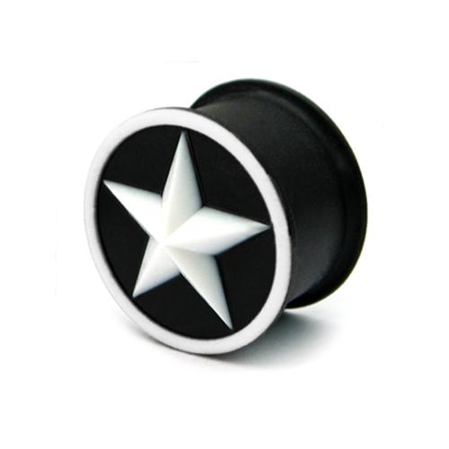 white star silicone plug