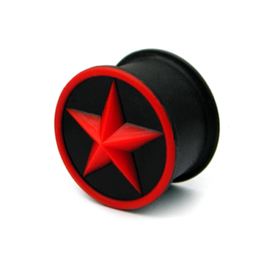 red star silicone plug