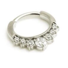 7 Gem Clicker Ring