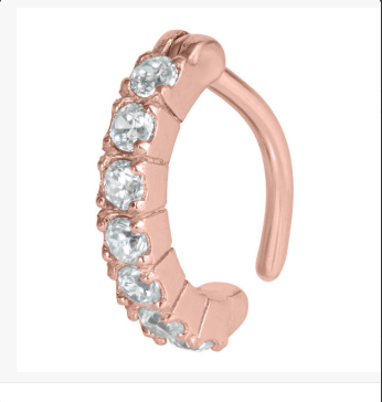 Rose Gold Rook Ring With Gems