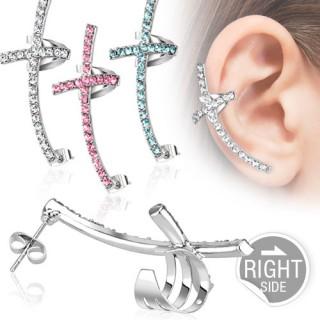 Jewelled Cross Ear Cuff