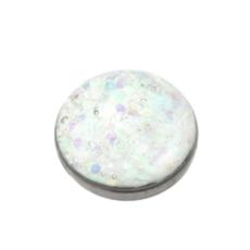White Sparkle Titanium Dermal Top