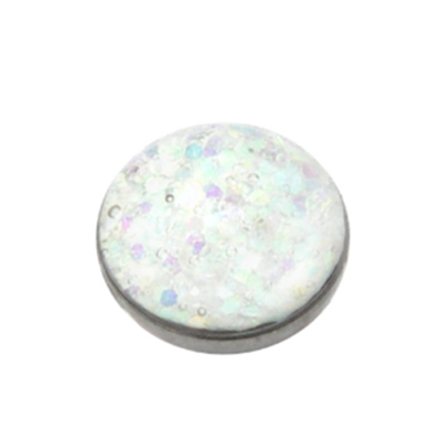 White Sparkle Titanium Dermal Top