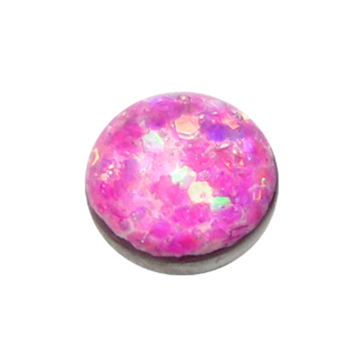 Pink Sparkle Titanium Dermal Top