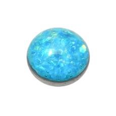 Light Blue Sparkle Titanium Dermal Top