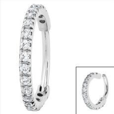 Premium Range Clicker Ring With Clear Gem Edge