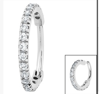 Premium Range Clicker Ring With Clear Gem Edge