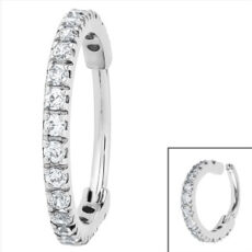 Premium Range NOSE Ring With Clear Gem Edge