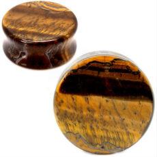 Tigers Eye Gem Stone Ear Plug