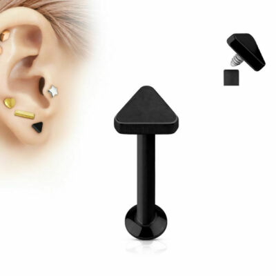Flat Back Black Triangle Stud